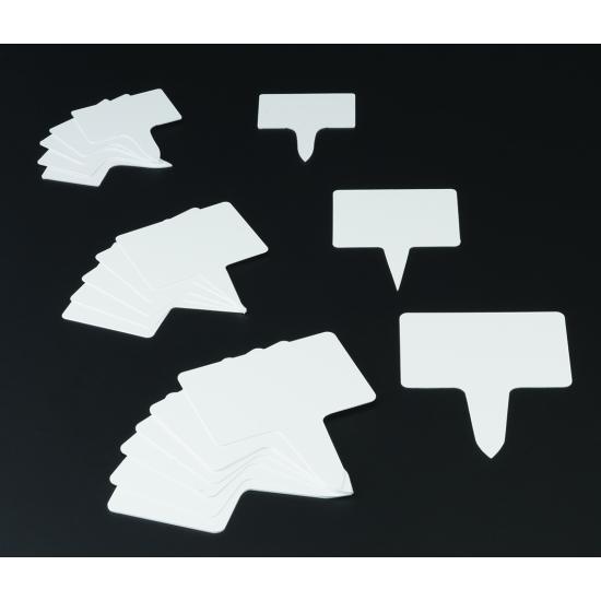 Étiquettes rectangle P.V.C - 10 unités