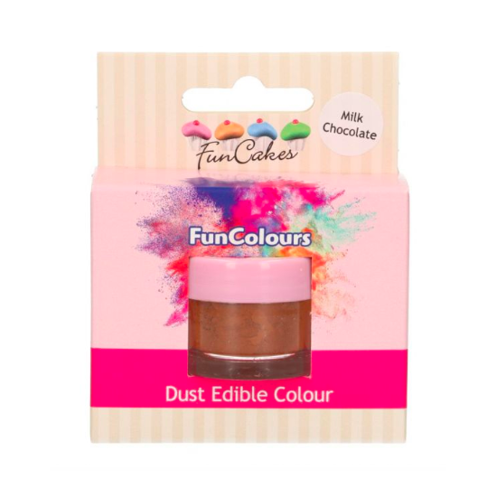 Poudre alimentaire FunColours - Chocolat au lait- Milk Chocolate - 1,5g - Halal