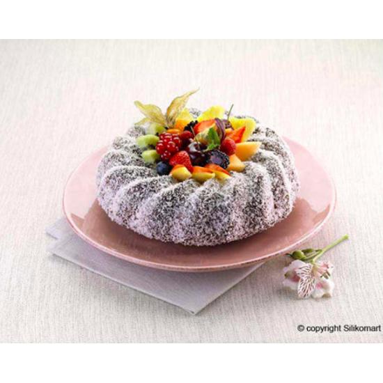 SFT224 - Moule souple en silicone : Savarin -bundt cake