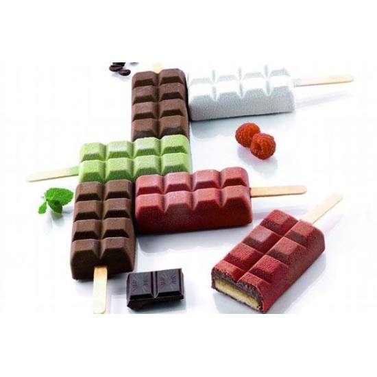 Moule en silicone - 4 Glaces Chocostick - 4x90 ml