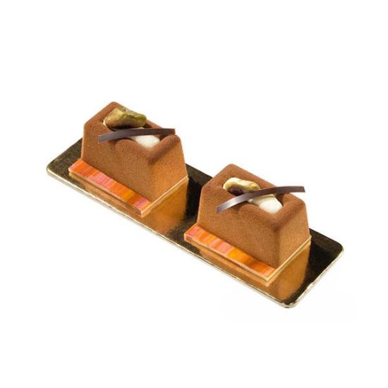 "SF090 - Moules flexibles ""Silicon Flex"": 8 savarins rectangulaires"