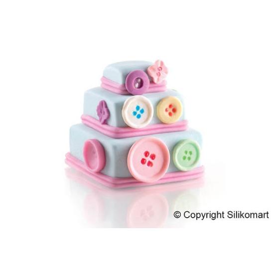 """SF168 - Moules flexibles """"Silicon Flex"""": 6 mini wonder cakes carrés"""