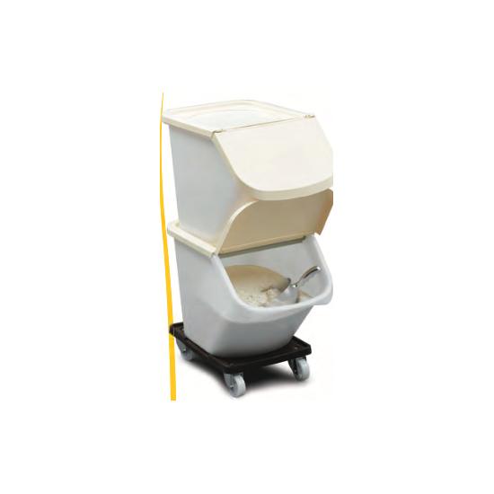 Conteneur universel empilable - Couvercle ivoire pour Bac 15 L