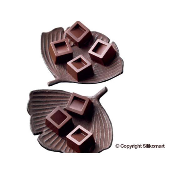 """Plaque silicone pour chocolat""""Easy Choc"""" : 15 carrés (plaque de 214 x 106 mm)"""