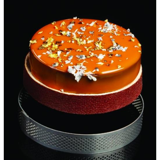 Cercle en acier micro perforé - Hauteur 2 cm - En collaboration avec Gianluca Fusto