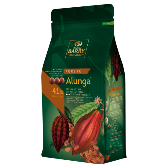 CHOCOLAT DE COUVERTURE LACTÉ ALUNGA -1Kg ou 500 grammes