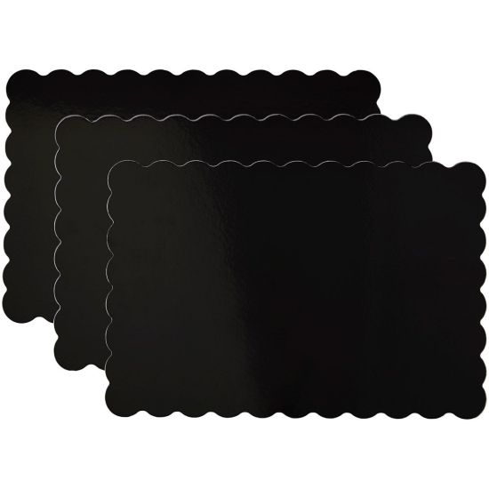 Plateaux à gâteaux noir - 33 x 48,2 cm