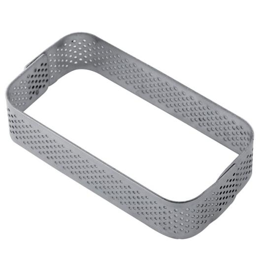 Rectangle en acier micro perforé - En collaboration avec Gianluca Fusto