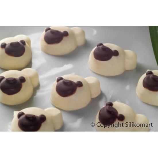 SF141 - Moules flexibles - Choco panda