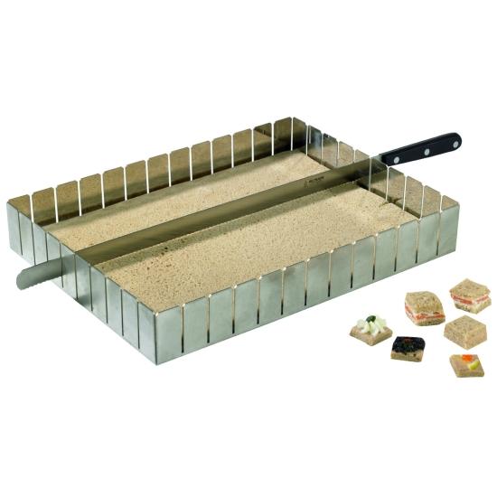 Diviseur inox parts égales - 57 x 37 cm