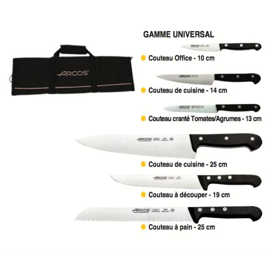 Trousse souple - 6 couteaux -
