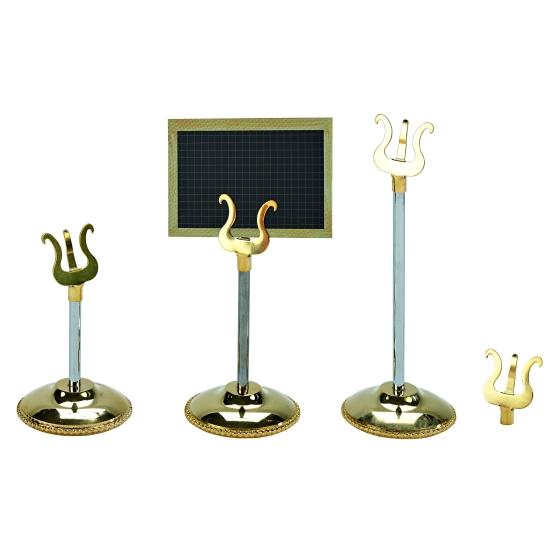 Porte-étiquette or sur pied avec lyre - boite de 10 unités