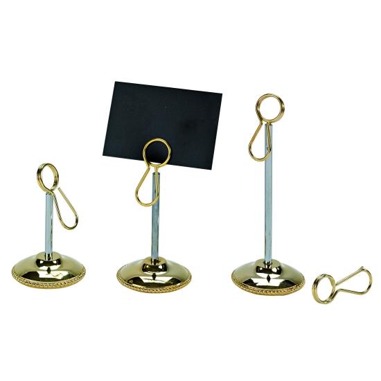 Porte-étiquette or sur pied avec pince - boite de 10 unités