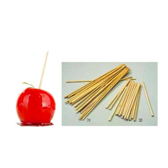 Bâtonnets pomme d'amour & Barbe à papa - bois naturel - Par 200 ou 500 unités