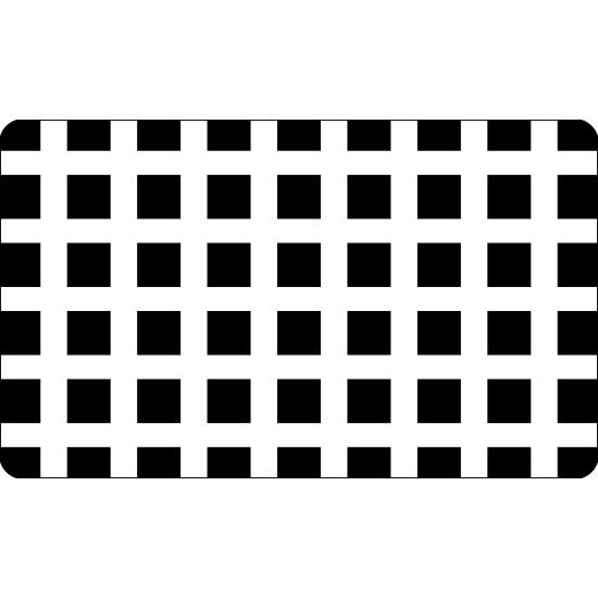 Grille plastique pochoir à Biscuit motif Carré - 60*40cm