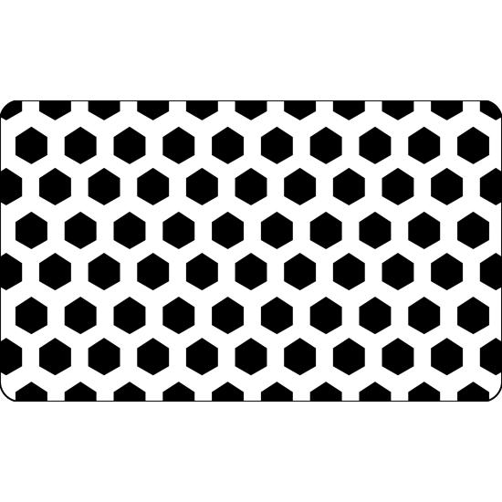 Grille plastique pochoir à Biscuit motif Hexagone - 60*40cm
