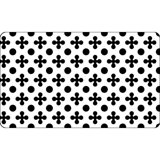 Grille plastique pochoir à Biscuit motif Trèfle/Rond - 60*40cm