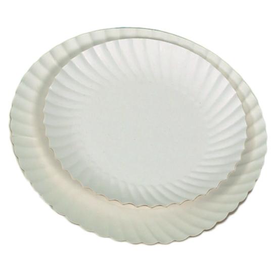 "Assiette carton blanc ""IMPERGRAS"""