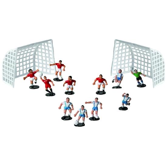 Équipe de football - 11 joueurs + 2 cages