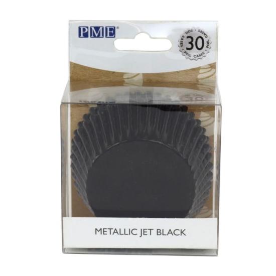 PME - caissettes à Cupcakes - Noir Métallique - P/30