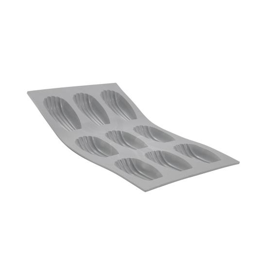 PLAQUE MADELEINES ELASTOMOULE, MOUSSE DE SILICONE  (plaque de 300 x 176 mm)