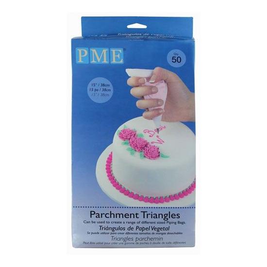 PARCHMENT TRIANGLES / PCS 50 - PME
